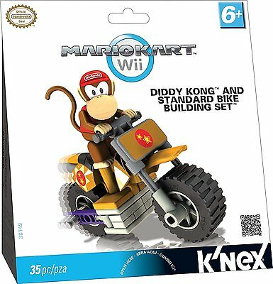 K'NEX Mario Kart Wii Diddy Kong Bike Car Ages 6+ Girls Boys New Toy Play Gift