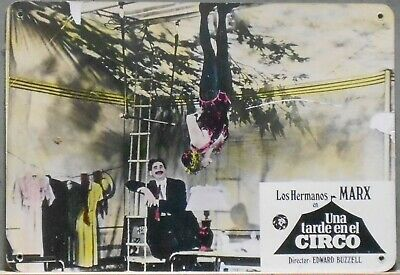 XK60  AT THE CIRCUS MARX BROTHERS GROUCHO rare Lobby Card Spain A