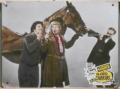 XK63 MARX BROTHERS A DAY AT THE RACES GROUCHO rare Big Lobby Card Spain