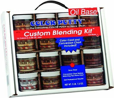 Color Putty Company 09716 Color Putty Blend Kit 16 Colors 3.5-Ounce Jars