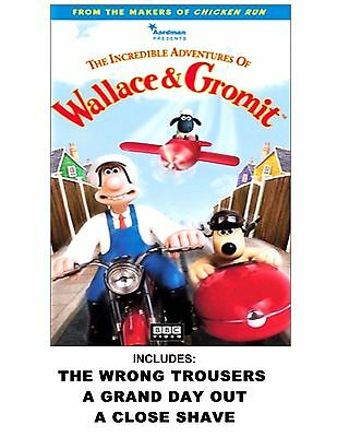 Wallace & Gromit The Incredible Adventures VHS 3 Stories NEW Factory Sealed