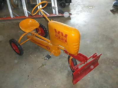 Minneapolis Moline Tot Pedal Tractor With Snow or Dirt Blade
