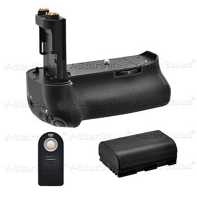 Battery Grip for Canon 5D Mark IV + LP-E6 Replacement Battery + Remote