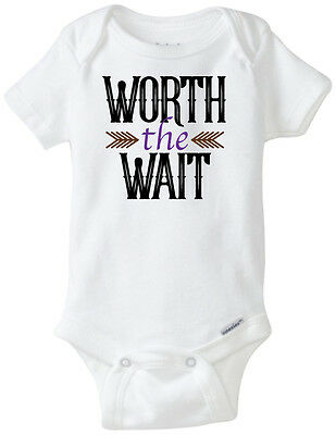 WORTH THE WAIT - Funny Baby Onesies Infant Newborn Boy Girl Clothes