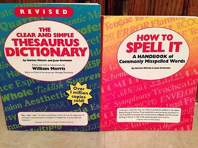 NEW Two Scholastic Student Resources: Thesaurus/Dictionary PLUS How to Spell It