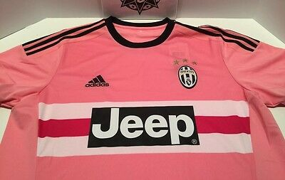 ee3a60fe852 ADIDAS JUVENTUS SOCCER JERSEY JEEP PINK DRAKE ITALY S12846 sz 2XL ...