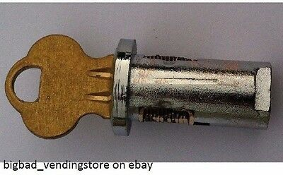 "1/4"" LOCK & KEY for Most Gumball Candy Nut Bulk Vending Machine Oak Northwestern"