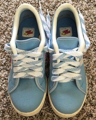 Vintage DeadStock DYNA KIDS Running Canvas Sneakers Blue Shoe Sz2.5 Made In USA