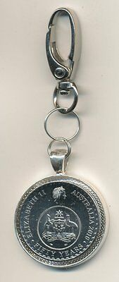 2016 Australian 20cent Coin Keyring - 50 Years of Decimal Currency  #278