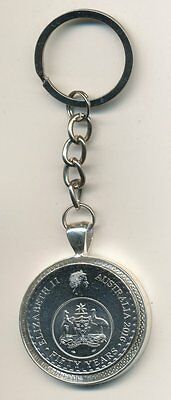 2016 Australian 20cent Coin Keyring - 50 Years of Decimal Currency  #292