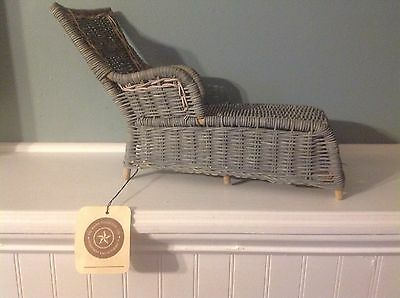 Boyds Bear Wicker Lounge Chair 2 Tone, With Tags