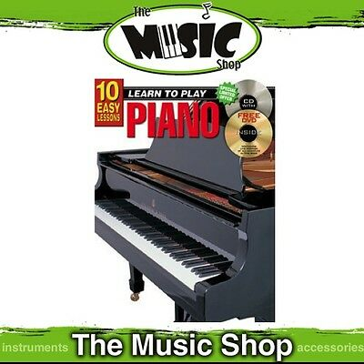 New 10 Easy Lessons Learn to Play Piano Music Tuition Book with CD & DVD