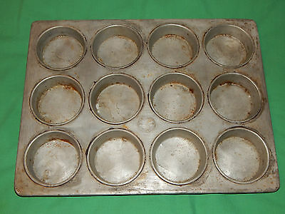 LOCKWOOD CINCINNATI Commercial Bakery 12 Roll Bun Cake Sweets, Tinned Steel Pan