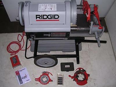 """Ridgid 1224 Pipe Threader 1/2-4"""" BARELY USED 2 Die Heads! 711 714 to 6"""" W/ 161"""