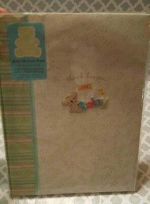 Child Of Mine Baby's First Memory Book ( Thank Heaven For Little Boys) Green