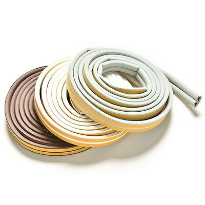 5M D-type Window Foam Adhesive Draught Excluder Seal Tape Rubber Weather Strip