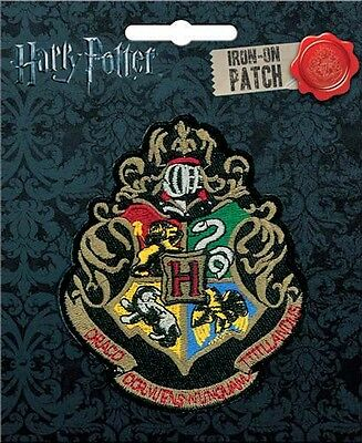 Harry Potter Hogwarts Crest Embroidered Patch Officially Licensed