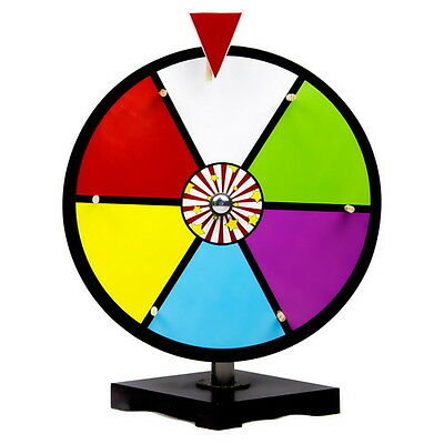 Brybelly 12 Inch Color Dry Erase Trade Show Prize Wheel with Stand,Toy Games