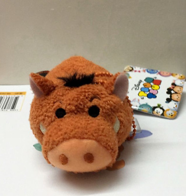New Disney TSUM TSUM The Lion King Pumbaa Mini Soft Plush Dolls Toys With Chain