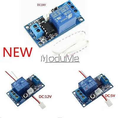 DC 5V/12V/24V 1 Channel Latching Relay Module With Touch Bistable Switch MCU MO