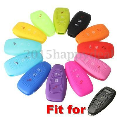 Silicone 3 Button Remote Key Fob Case Cover For FORD FOCUS MONDEO FIESTA KUGA UK