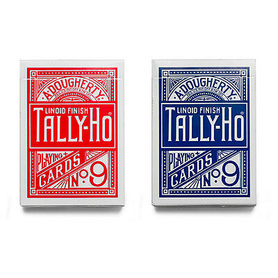 2 Mazzi di carte Tally Ho - Circle Back - formato poker - dorso Rosso e Blu