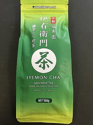 IYEMON Cha Japanese Tea 100g Green Tea Matcha Blend  Sencha Ocha MADE IN JAPAN