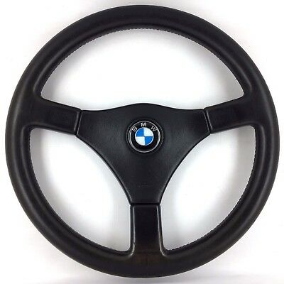 genuine bmw e30 3 series m tech 1 leather steering wheel. Black Bedroom Furniture Sets. Home Design Ideas