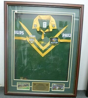 Arl Nrl Australian Kangaroos 2008 Rugby League World Cup Signed Jersey