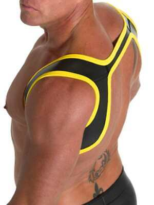 665 Leather Neoprene Slingshot Harness Black/Yellow S/M CH
