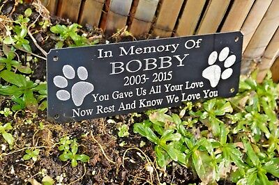 Personalised Pet Memorial Plaque Grave Marker Dog /cat Various Options To Choose