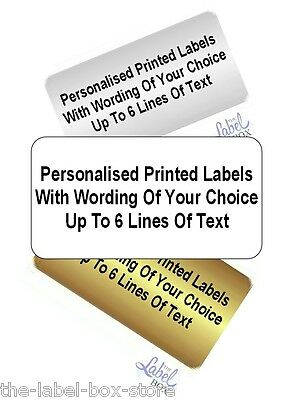 260 Printed Personalised Self Adhesive White Gold Silver Return Address Labels