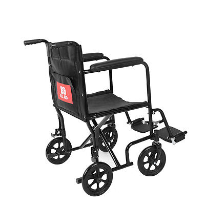 Lightweight Transit Folding Travel Wheelchair Portable Brakes Comfortable Carry