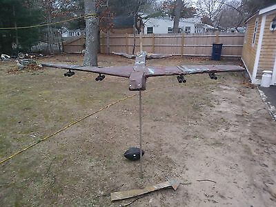 large copper jet bomber weathervane