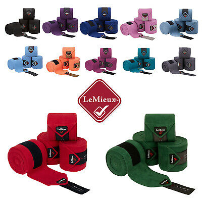 LeMieux LUXURY 3.8m Horse FLEECE POLO BANDAGES Wraps Dressage/Stable/Exercise