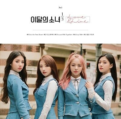 LOONA MONTHLY GIRL 1/3 1st Mini Album [Love & Live] Normal CD+Photobook+P.Card