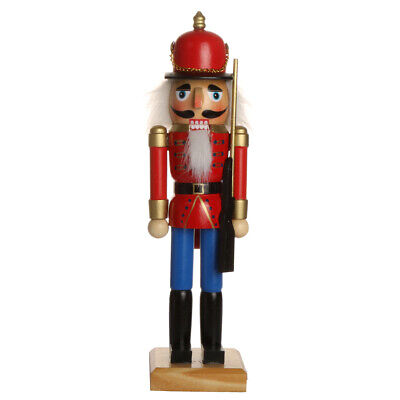 Handpainted Wooden Nutcracker Figures Xmas/Desktop Ornament Holiday Decor Toy