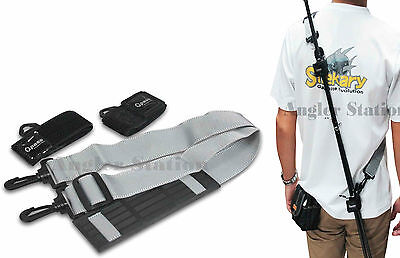 Opass AC268 Shoulder Strap for Travel Fishing Rod - Grey and Black