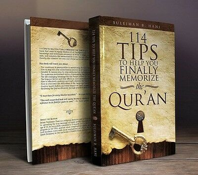 114 Tips to Help You Finally Memorize the Qur'an - By Suleiman Hani -PB-