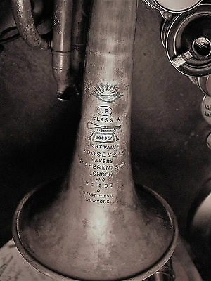Boosey & Co.1911 CORNET Class A #74401 London England I.P. light valve AS-IS