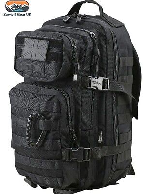 Kombat Black Small Assault back pack / daysack 28 Litre Airsoft Tactical