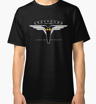Greyhound Fan Club Men's Black Tees Tshirt S - 3XL