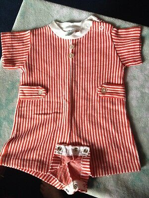 Vintage Buster Brown Boys Onesie Size 12 Months 19-21 Pounds