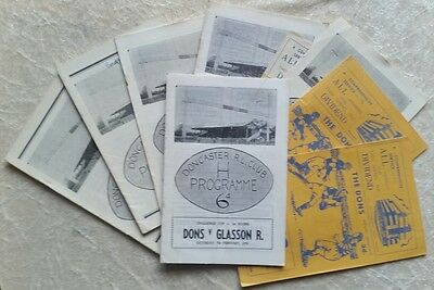 Doncaster Rugby League Home Programmes 1950s & 1960s + Glasson Rangers Maryport