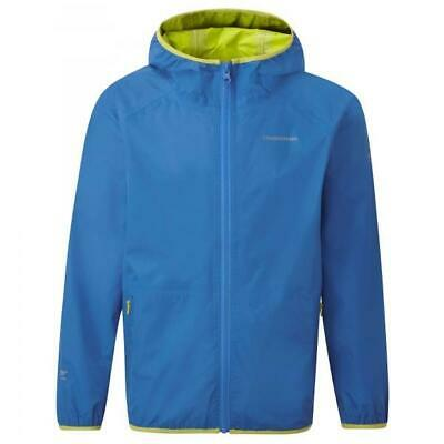 Craghoppers Kids Childrens Pro Lite Lightweight Waterproof Coat Jacket in Blue