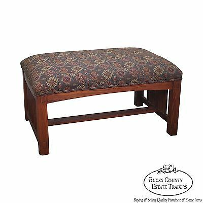 Custom Quality Solid Oak Mission Style Large Ottoman or Bench