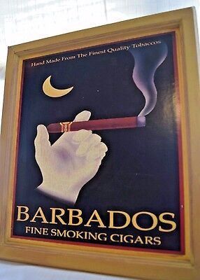 """Barbados Fine Smoking Cigars Picture 13"""" x 16"""" Man Cave Art"""