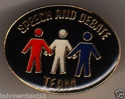 """SPEECH AND DEBATE TEAM"" Enamel Lapel Pins/WHOLESALE LOT OF 22/ALL NEW LINE!"