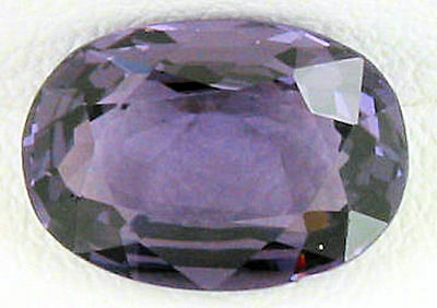 EYE CATCHING 2.01ct  OVAL NATURAL SILVER PURPLE SPINEL