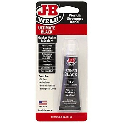 J-B Weld 32509 Ultimate Black RTV Silicone Gasket Maker and Sealant - .5 oz